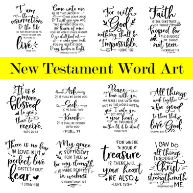 New Testament Word Art | PNG Bible Word Art