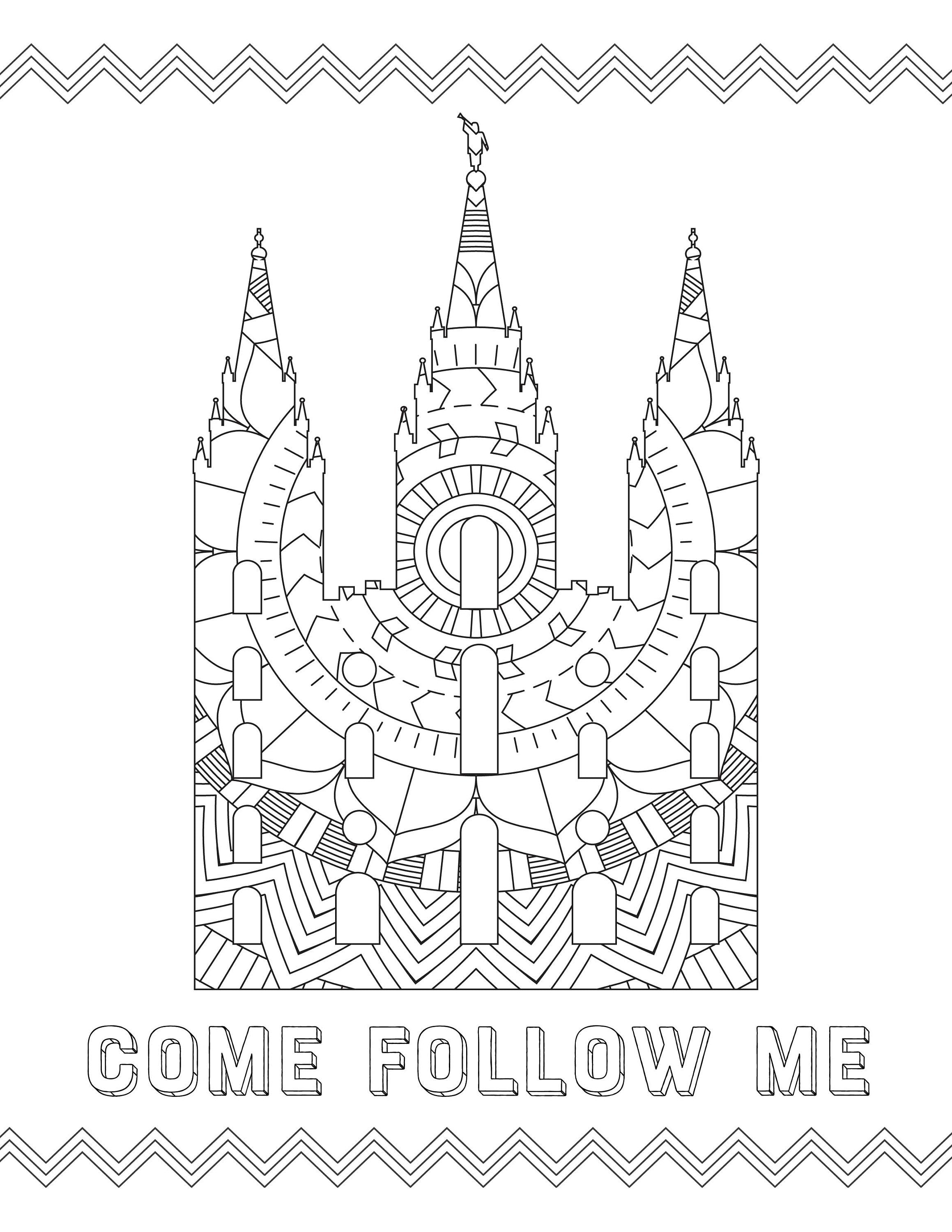 Temple Coloring Pages | Latter-day Saint Temple Coloring ...