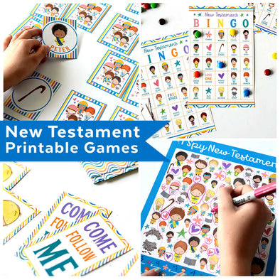 New Testament Printable Games & Activities Kit | Bible Games for Kids | Come Follow Me Primary Helps