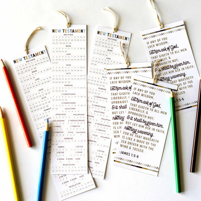 New Testament LDS Seminary Bookmarks | New Testament Reading Chart Bookmark