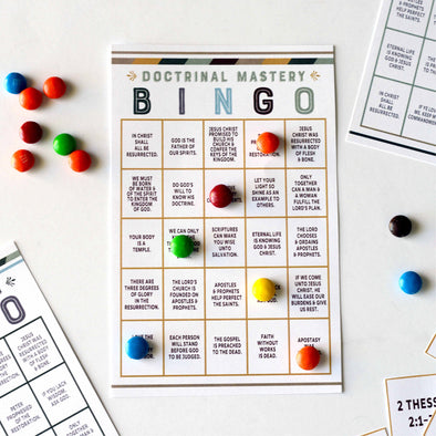 New Testament Seminary Doctrinal Mastery BINGO - New Testament LDS Doctrinal Mastery Game