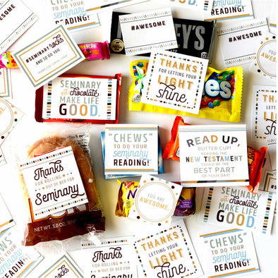 New Testament Seminary Treat Toppers | LDS Seminary Candy Tags