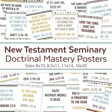 New Testament Seminary Doctrinal Mastery Posters |  LDS Seminary Doctrinal Mastery Topics Posters