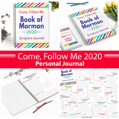 Come Follow Me 2020 Personal Journal | Come Follow Me For Teens, Singles, & Personal Study