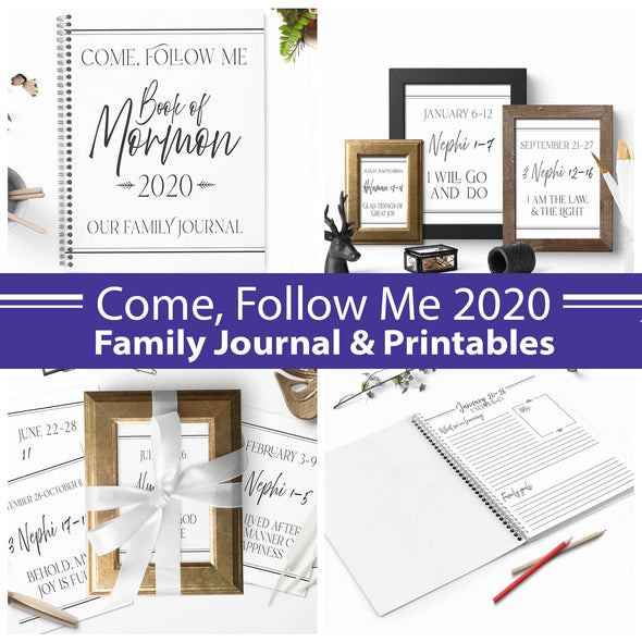 Come Follow Me 2020 Complete Printable & Journal Kit  Come Follow Me For Families | Instant Download