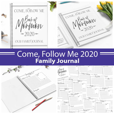 Come Follow Me 2020 Family Journal | Come Follow Me For Families | Instant Download