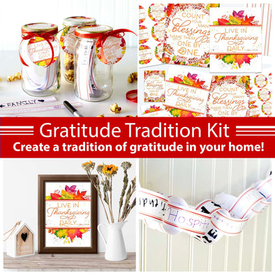 Gratitude Tradition Printable Kit | Thanksgiving Tradition Printable Kit