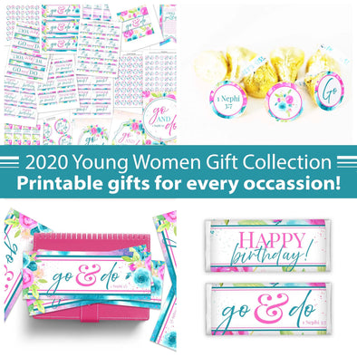 Young Women 2020 Gift Set | Latter-day Saint Young Women Gifts Printable Kit