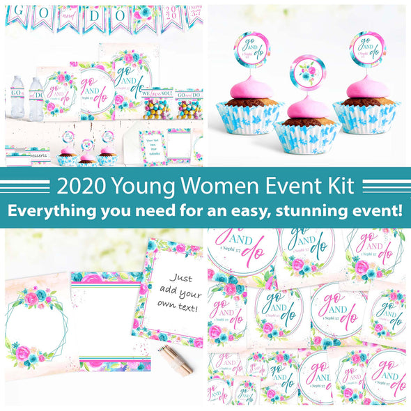 Young Women 2020 Event Printable Kit | Printables for Latter-day Saint Young Women Events 2020