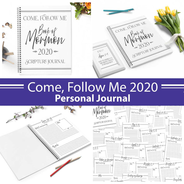 2020 Book of Mormon Come Follow Me Personal Journal