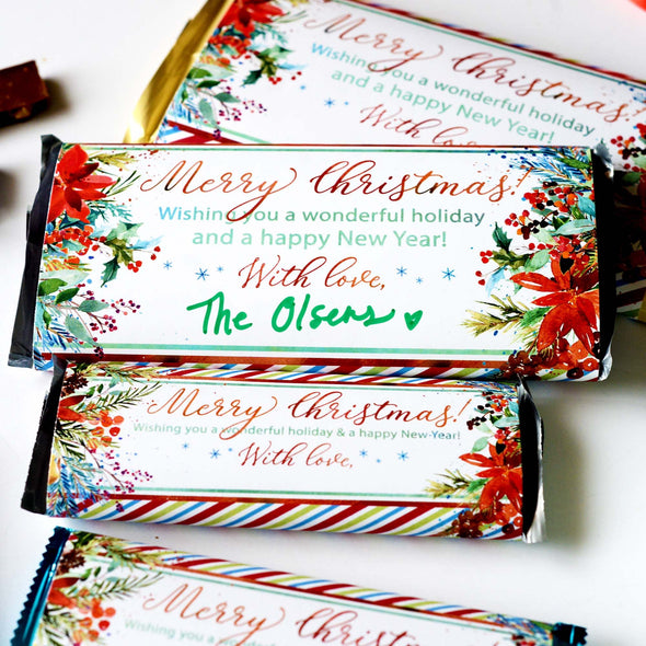 Christmas Chocolate Candy Bar Wrapper | The easiest Christmas gift of all time!