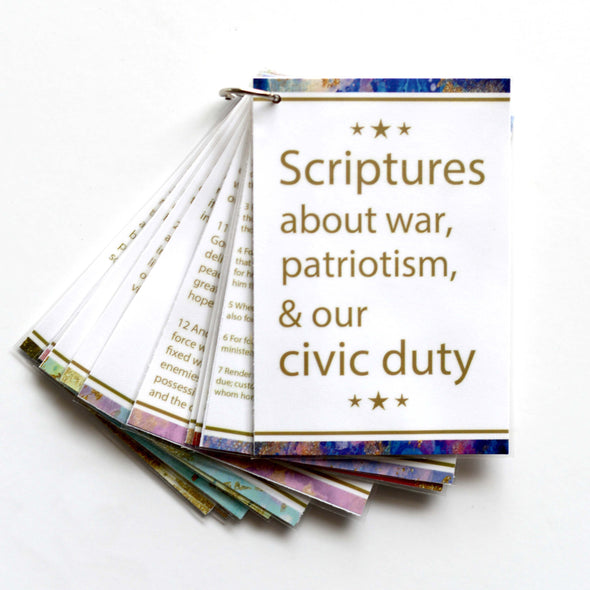 The Stripling Sister Printable Scripture Booklet | Scriptures for Latter-day Saint Armed Services Members