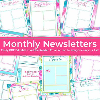 Editable Newsletters for Primary, Relief Society, & Young Women | Blank Newsletters | Editable