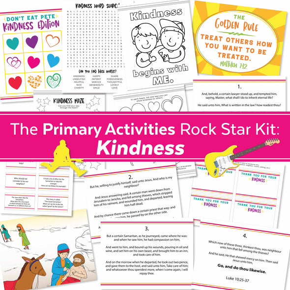The Primary Activities Rock Star Kit: Kindness | LDS Primary Activities Complete Kit