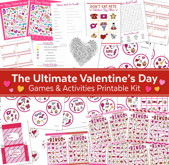 The Ultimate Valentine's Day Games & Activities Printable Kit