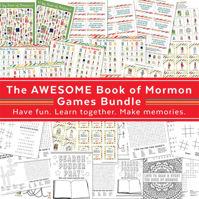 Book of Mormon Games - perfect for Come Follow Me and home church, primary activities, and youth activites...and just for fun anytime