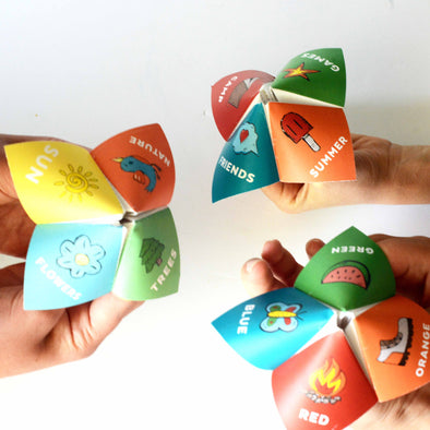 Camping Cootie Catchers/Fortune Tellers | Girls Camp Activity