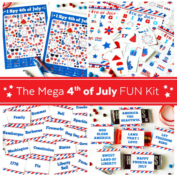 The Mega 4th of July FUN Kit | Fourth of July Games Kit | 4th of July BINGO Digital Download