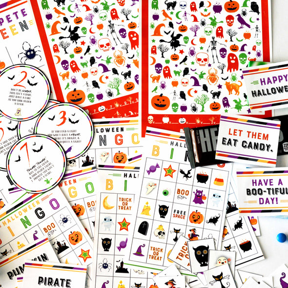 The Epic Halloween Printable Kit | Halloween Bingo, Games, Banner, Kid Activities for a Fun Halloween Party!