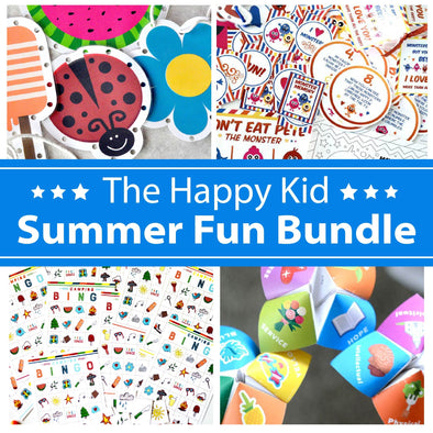 The Happy Kid Summer Fun Bundle | Summer Printable Games & Activities to Keep Your Kids Busy and Happy!