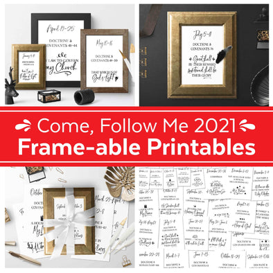 Come Follow Me 2021 Frame-able Printables | Come Follow Me Doctrine & Covenants Prints