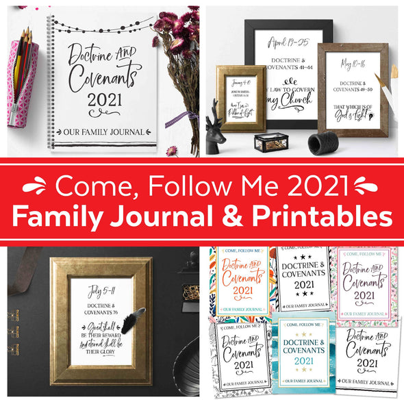 Come Follow Me 2021 Complete Printable & Journal Kit  Come Follow Me For Families