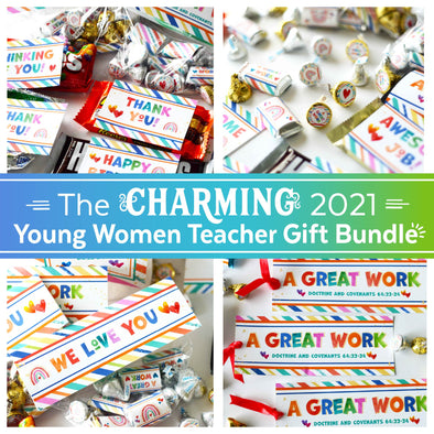The Charming 2021 Young Women Teacher Gift Bundle | LDS Young Women 2021 Helps