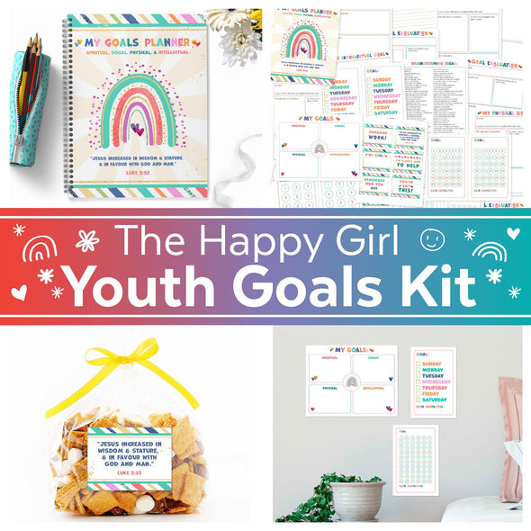 The Happy Girl Youth Goals Kit for Latter-day Saint (LDS) Youth