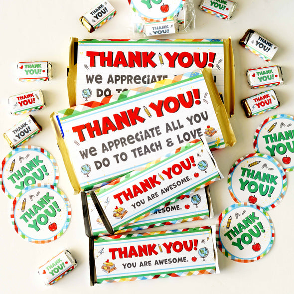 The Timeless Teacher Appreciation Gift Printable Kit | Candy Bar Wrappers for Teachers & Educators