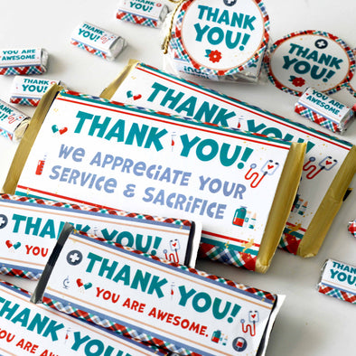 Hero Healthcare Appreciation Gift Printable Kit | Candy Bar Wrappers for Doctors, Nurses, Healthcare Workers