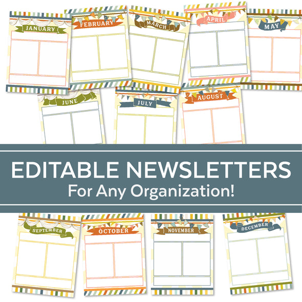 Editable Newsletters for Primary | Editable Blank Newsletters
