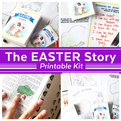 The Easter Story Scripture Printable Kit | Christian Bible Easter Activities | Easter Scripture Family Kit