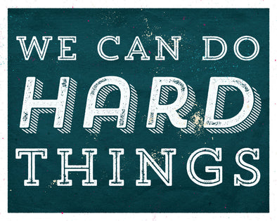 We Can Do Hard Things Vintage Wall Art, Retro Wall Art, Wall Printable, Instant Download