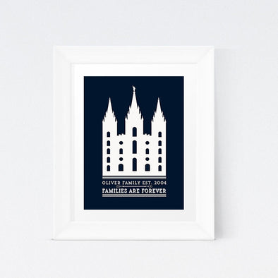 Temple Wall Print; Customized LDS Temple Printable; Mormon Temple Printable Wall Art