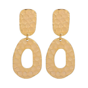 Irregular Textured Gold Earrings