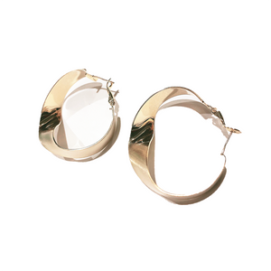 Twisted Round Hook Earring