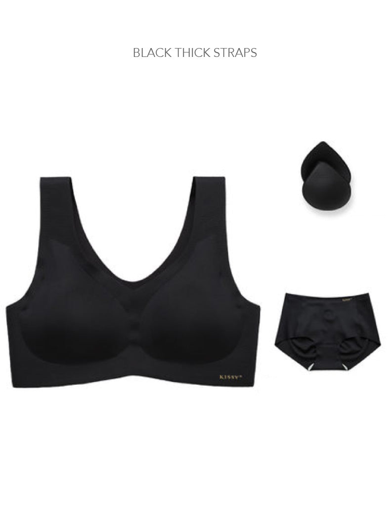 Kissy Patented Seamless Innovative Hi Tech Bra & Brief Set