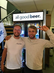 Elliot from All Good Beer & Stefan from Track Brewing Co