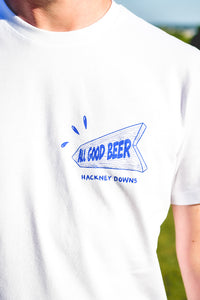 T-shirt - White - all good beer.