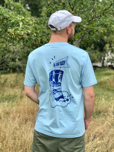 T Shirt - Blue - all good beer.