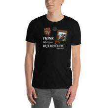 "Bohemican ""Think Before You Defenestrate"" Dark T-Shirt"