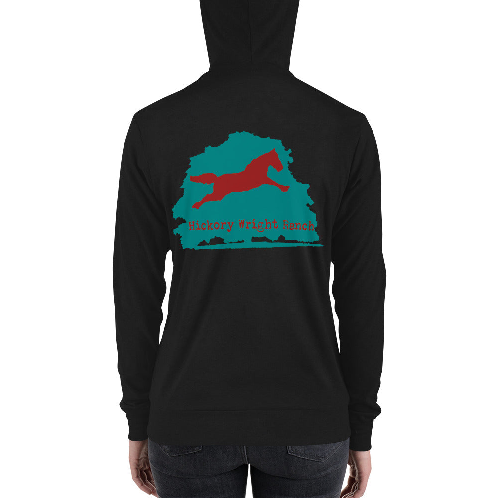 Hickory Wright Ranch blue-red Zip Hoodie