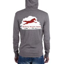 Hickory Wright Ranch white-red Zip Hoodie