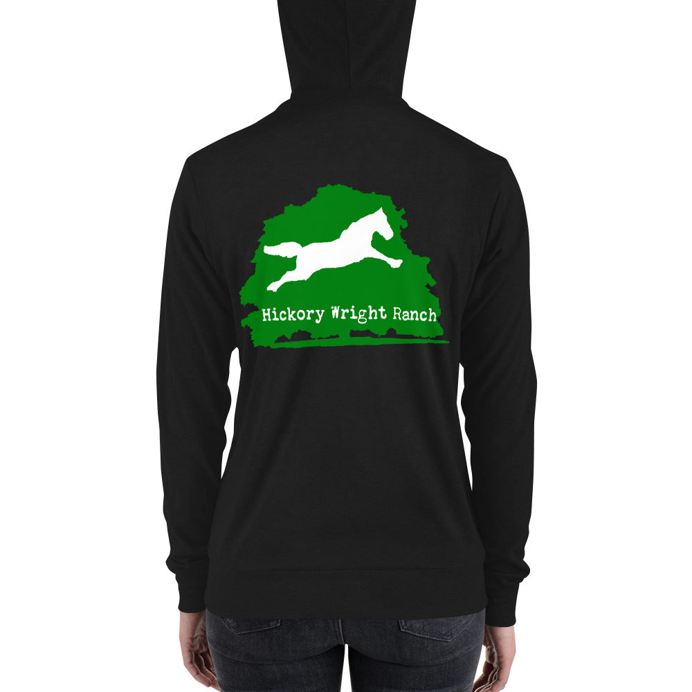 Hickory Wright Ranch green-white Zip Hoodie