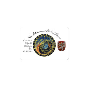 "Bohemican ""Astronomical Clock of Prague"" Sticker"