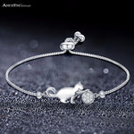 Cute Cat Adjustable Charm Bracelet, CAT CATTY - CAT CATTY