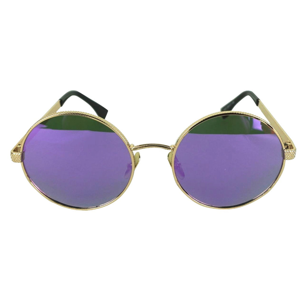 PURPLE ROUND TINTED SHADES
