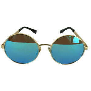 BLUE ROUND TINTED SHADES
