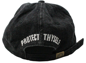 BLACK 'PROTECT THYSELF' DAD HAT