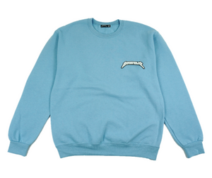 LIGHT BLUE LOGO CREWNECK